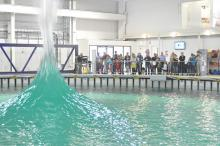 Members of the public enjoy some of more unusual capabilities of the world-unique FloWave test facility